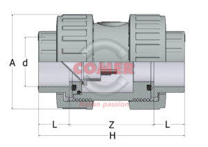 AARV13 – Air release valve BS with female plain ends - COMER S.p.A.