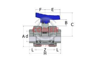 ABVD13-new-handle-spaccato-1-300x212 ABVD13 - Double union ball BS valve with female plain ends
