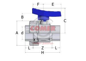 ABVS13 new handle spaccato water series COMER S.p.A. - COMER S.p.A.