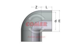 AEL53 – Gomito a 90° in ABS - COMER S.p.A.