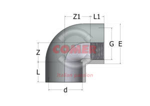 AEL54 – 90° Elbow plain/threaded - COMER S.p.A.
