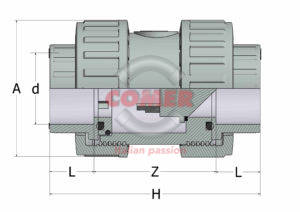 AFVD13 – Foot valves BS with female plain ends - COMER S.p.A.