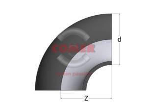BEC – Gomito a 90° Codolo corto PE100 - COMER S.p.A.
