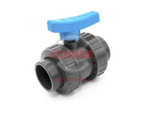 BVD13 UPVC double union ball valve with female plain ends british standard by COMER S.p.A. - COMER S.p.A.