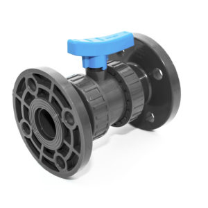 BVD19 UPVC Double union ball valve with flanged ends COMER S.p.A. made in Italy - COMER S.p.A.
