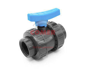 BVD41 – Double union ball valve with adjustable seat and female threaded ends - COMER S.p.A.