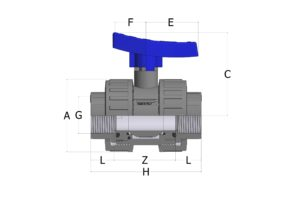 BVD41_new_handle_spaccato-scaled-300x212 BVD41 - Double union ball valve with adjustable seat and female threaded ends