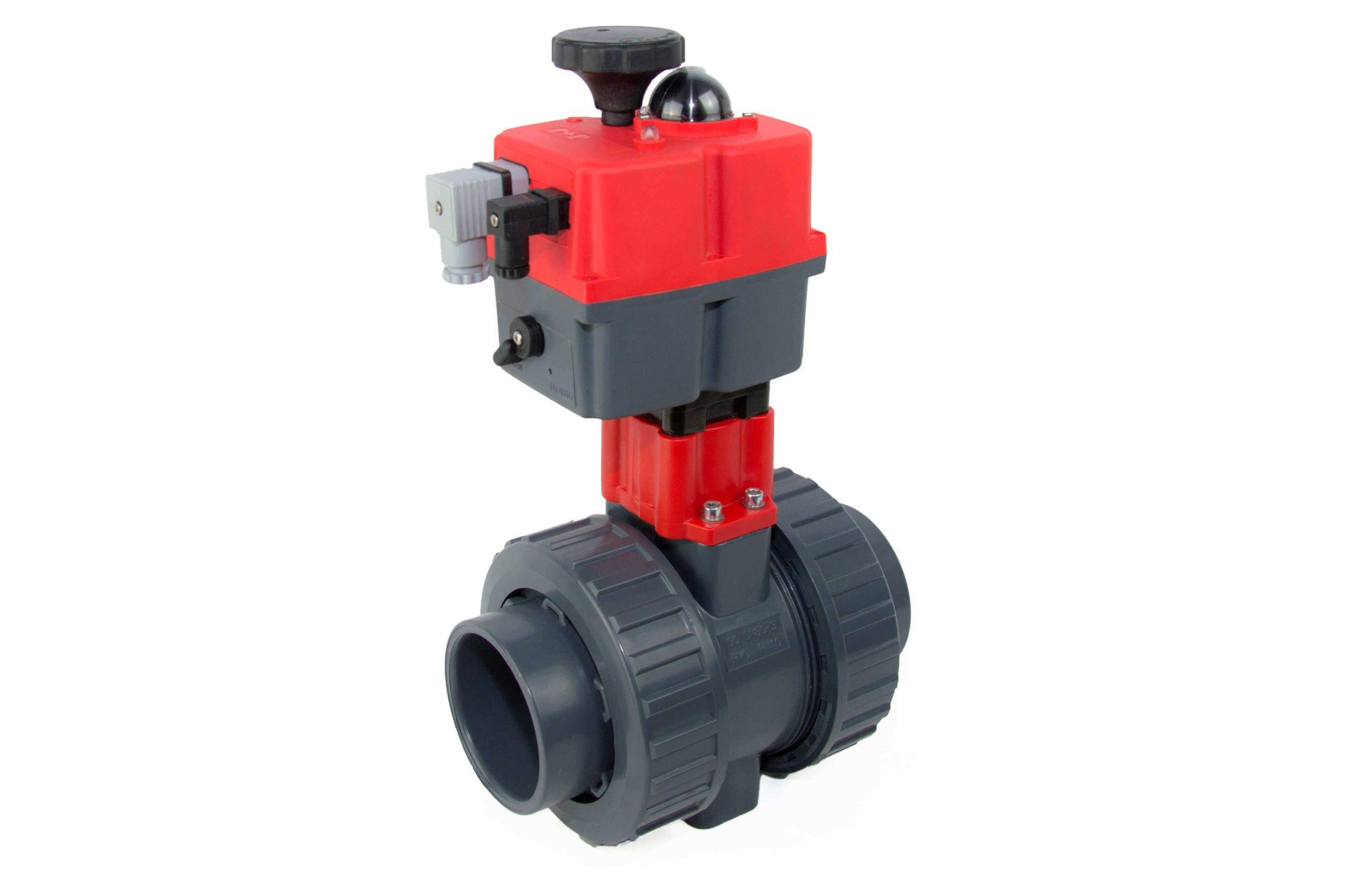 BVI-EL – Electric actuated U-PVC ball valve - COMER S.p.A.