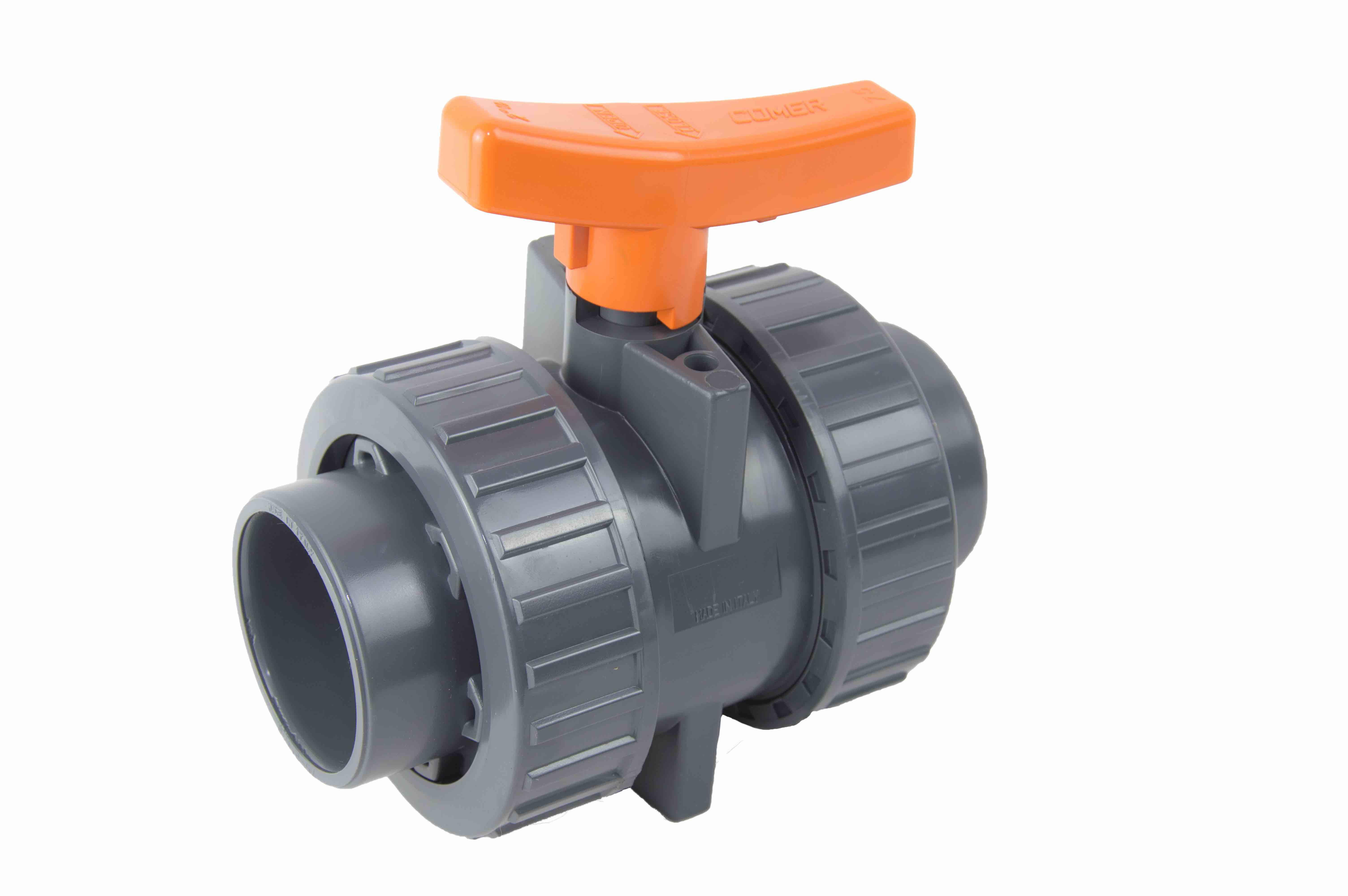 BVI10-industrial-ball-valve-COMER-S.p.A. BVI10 - Valvola a sfera industria con attacchi femmina per incollaggio