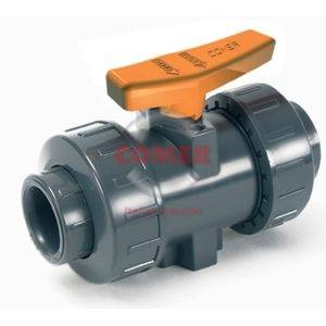 ABVI33 – Industry ball valve with female plain ends BS (Viton®) - COMER S.p.A.