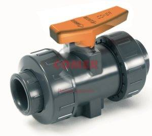 BVI33 UPVC Industry ball valve with female plain ends British Standard (Viton®) by COMER S.p.A. - COMER S.p.A.