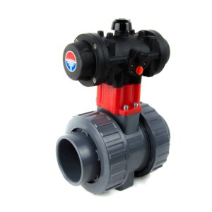 BVI-PN – Pneumatic actuated PVC ball valve - COMER S.p.A.