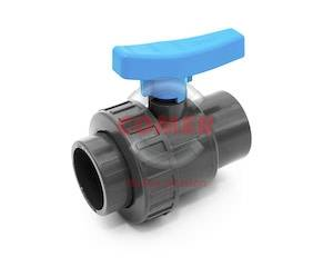BVS12 UPVC Single union ball valve adaptor series with female plain/threaded ends COMER S.p.A. made in Italy - COMER S.p.A.