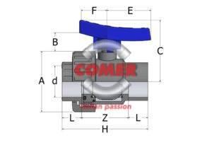 BVS13 – Single union ball valve with female plain ends BS - COMER S.p.A.