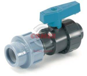 BVS19 – Single union ball valve with female threaded end/quick coupling for PE pipe - COMER S.p.A.