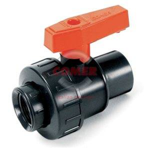 BVS21 – Single union ball valve with female threated ends in GFPP (glass reinforced polypropylene) - COMER S.p.A.