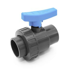 BVS40 UPVC Single union ball valve with adjustable seat and female plain ends COMER S.p.A. made in Italy - COMER S.p.A.