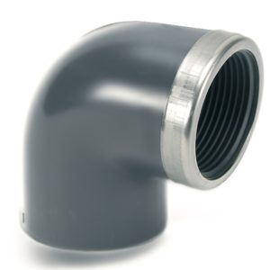 EL57 – 90° Elbow plain/threaded with metal rinforcing ring - COMER S.p.A.