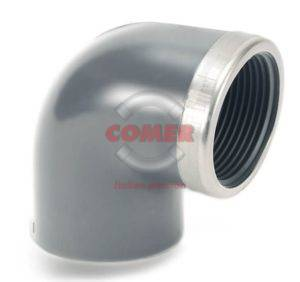 EL58 – 90° Elbow plain/threaded with metal reinforcing ring - COMER S.p.A.
