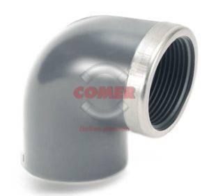 EL58 - Gomito 90° con anello di rinforzo metallico