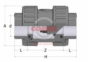 FVD10 – Foot valve with female plain ends - COMER S.p.A.
