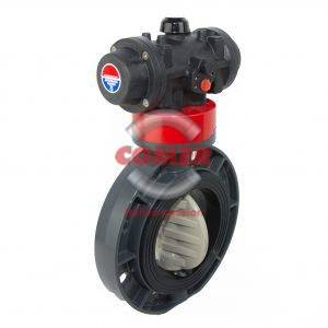 UPVC Pneumatic actuated butterfly valve - COMER S.p.A.