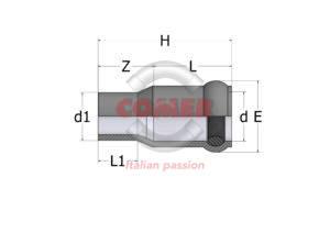 RAD10 – Adaptor spigot/socket - COMER S.p.A.