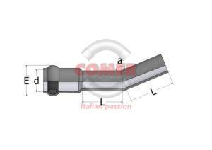 RBE22 – 22° Bend socket/spigot - COMER S.p.A.