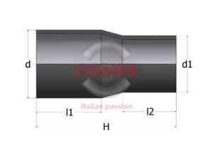 RPL /PA- Long spigot reduction in PE100 - COMER S.p.A.