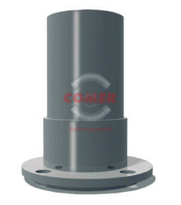 RST00 – Flange spigot single end with plastic flanged branch. Drilled UNI 2223 - COMER S.p.A.