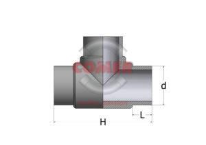 TEC – Ti 90° Codolo corto in PPH - COMER S.p.A.