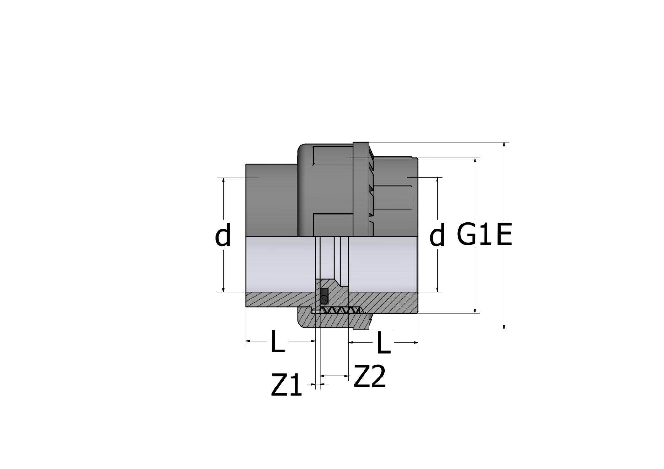 UN83 – Bocchettone con O-Ring - COMER S.p.A.