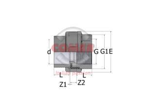 UN84 – Bocchettone con O-Ring incollaggio/filettato - COMER S.p.A.
