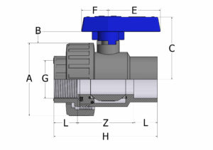 BVS12 – Single union ball valve-adaptor series with female plain/threaded ends - COMER S.p.A.