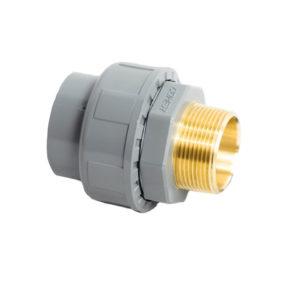 AUS74 – Bocchettone con 0-ring incollaggio/filettato maschiocon inserto in ottone in ABS - COMER S.p.A.