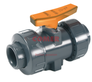 BVI33 – Industry ball valve with female plain ends  BS (Viton®) - COMER S.p.A.
