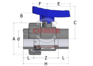 BVS43spaccato_new_handle-300x212 BVS43 - Single union ball valve with adjustable seat and female plain ends BS