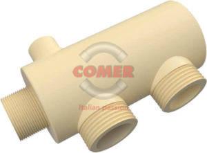CMDF065M10PP-300x221 Moduli per collettori in PPH con terminale filettato maschio