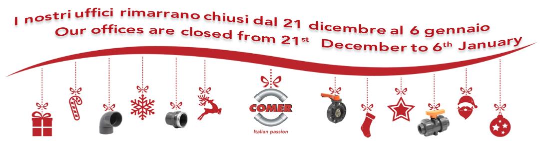 Chiusura Natalizia 2019-2020 - COMER S.p.A.