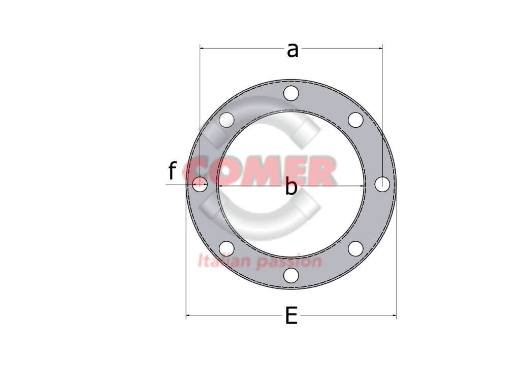 BRO-ST-tech-drawing-front BRO/ST Glass reinforced PP loose flange with metal insert for PVC stub