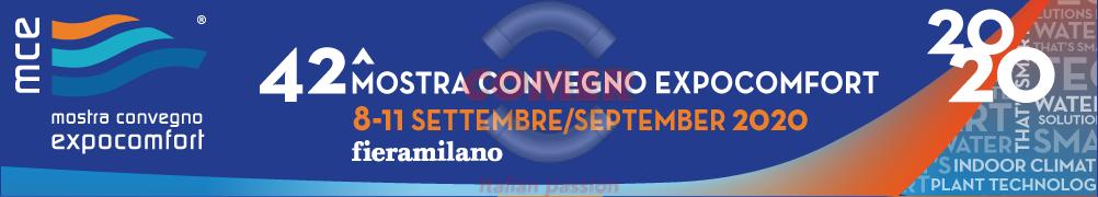 Nuove date MCE 2020 8-11 settembre 2020 - COMER S.p.A.