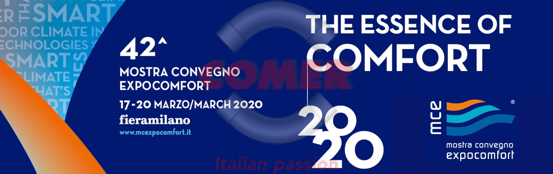 Mostra Convegno Expocomfort 2020 - COMER S.p.A.