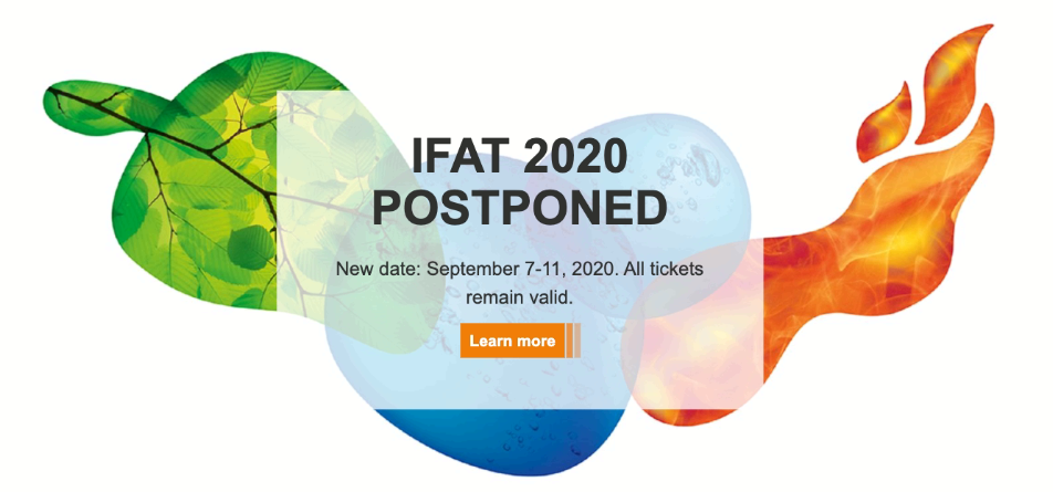 IFAT  2020 postponed - COMER S.p.A.