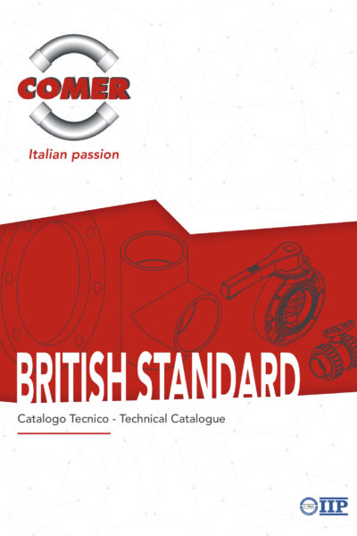 technical catalogue british standard COMER SPA 2020