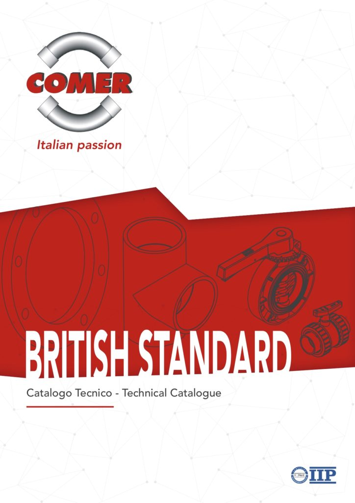 technical catalogue british standard COMER SPA 2020 - COMER S.p.A.
