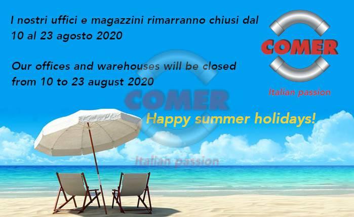 chiusura estiva COMER 2020 - COMER S.p.A.