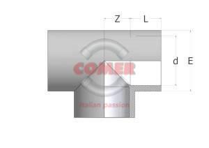 disegno tecnico C-TE40 in PVCC - COMER S.p.A.