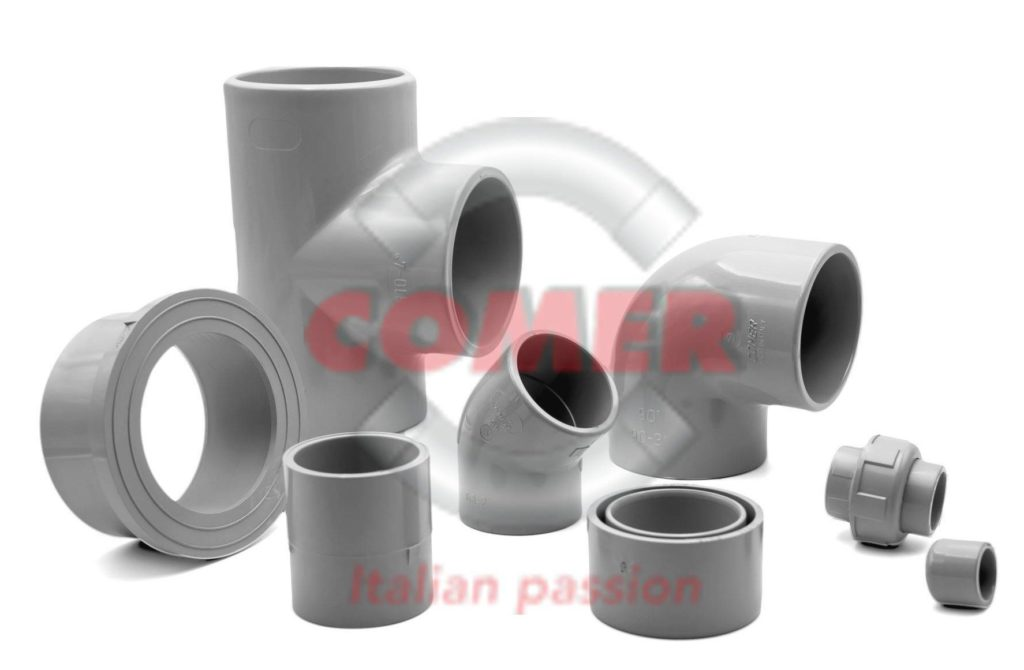 groupage PVC-C fittings COMER S.p.A.