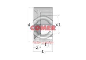 C-RB90 - Reducing bush male/female in C-PVC
