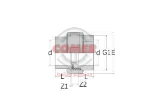 C-UN80-spaccato-300x212 C-UN80 - Union with O-Ring in C-PVC